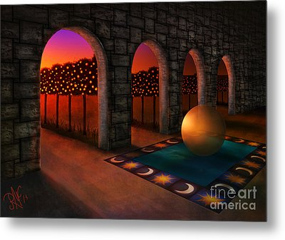 Archway Of Silence Metal Print by Rosa Cobos