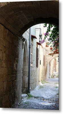 Archway Rhodos City Metal Print by Christiane Schulze Art And Photography