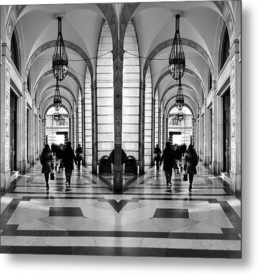 Metal Print featuring the photograph Archway Trieste by Graham Hawcroft pixsellpix