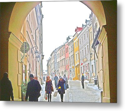 Archway Wall Into Lublin / Old City Metal Print by Rick Todaro