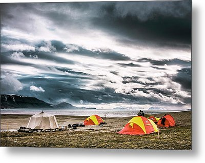 Arctic Camp Metal Print by Paul Williams