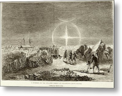 Arctic Funeral And Moon Dogs Metal Print by British Library