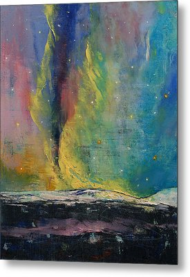 Arctic Lights Metal Print by Michael Creese