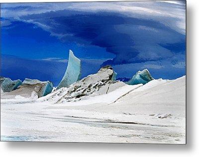Arctic Pressure Ridge Metal Print by David Blank
