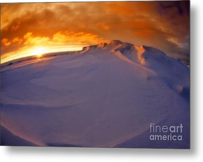 Metal Print featuring the photograph Arctic Sea Ocean Water Antarctica Winter Snow by Paul Fearn