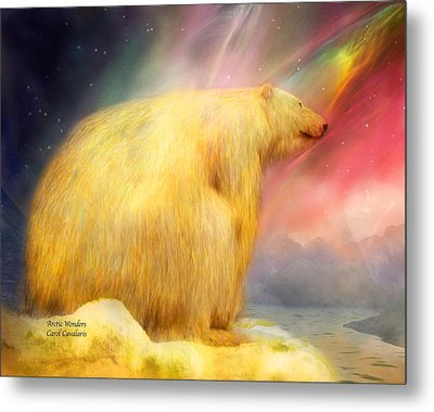 Arctic Wonders Metal Print by Carol Cavalaris