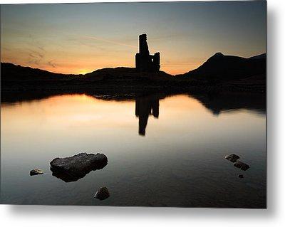 Ardvreck Sunset Metal Print by Grant Glendinning