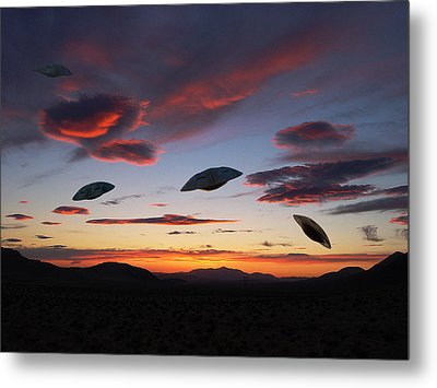 Area 51 Fly Zone Metal Print