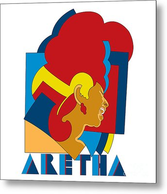 Aretha Franklin No.05 Metal Print by Caio Caldas