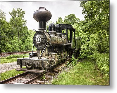 Metal Print featuring the photograph Argent Lumber Company Engine No. 4 - Antique Steam Locomotive by Gary Heller