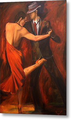 Metal Print featuring the painting Argentine Tango by Sheri  Chakamian