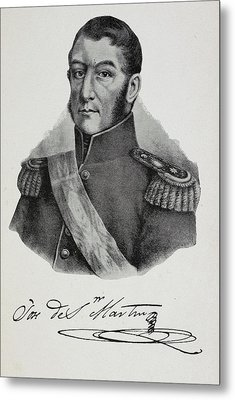 Argentinian Soldier In Military Uniform Metal Print by British Library