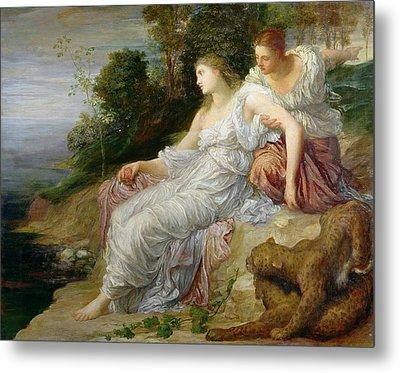 Ariadne In Naxos, 1875 Oil On Canvas Metal Print
