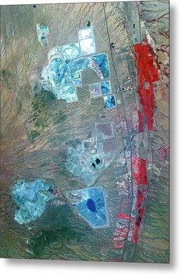 Arizona Copper Mine Metal Print by Nasa/gsfc/meti/ersdac/jaros, And U.s./japan Aster Science Team