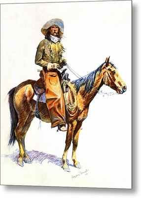 Arizona Cowboy Metal Print by Frederic Remington