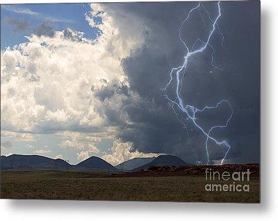 Arizona Desert Lightning  Metal Print