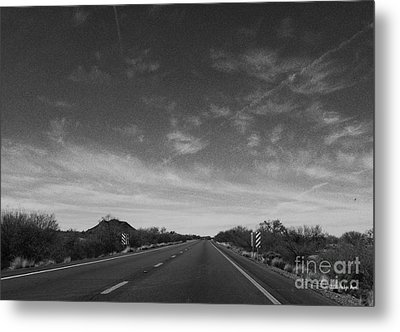 Arizona Highway 70 West Metal Print by Methune Hively
