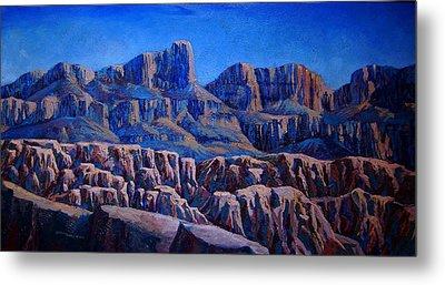 Arizona Landscape At Sunset Metal Print by Dan Terry