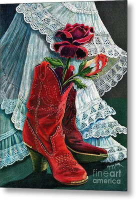 Arizona Rose Metal Print