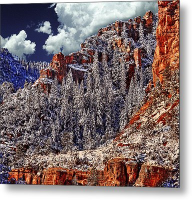 Arizona Secret Mountain Wilderness In Winter Metal Print
