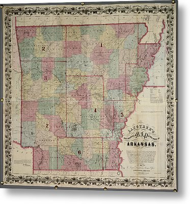 Arkansas Metal Print by British Library