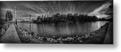 Arkansas River Panorama Metal Print by  Caleb McGinn