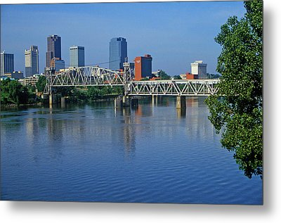 Arkansas River View From North Little Metal Print