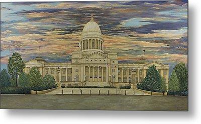 Arkansas State Capitol Metal Print