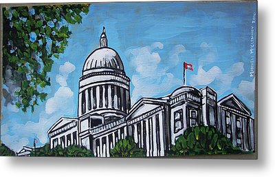 Arkansas State Capitol Metal Print by Mitchell McClenney