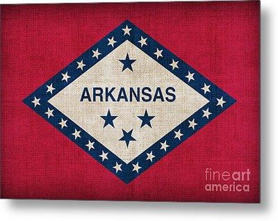 Arkansas State Flag Metal Print by Pixel Chimp