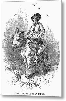 Arkansas Traveler, 1878 Metal Print by Granger