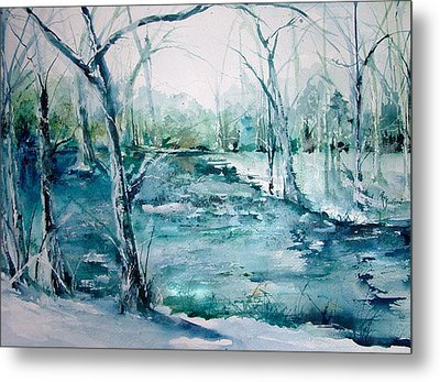 Arkansas Winter Metal Print by Robin Miller-Bookhout
