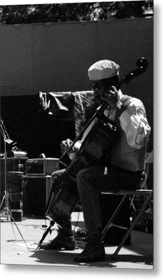 Arkestra Cellist Uc Davis Quad Metal Print by Lee  Santa
