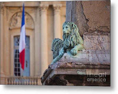 Arles Place De La Republique Metal Print by Brian Jannsen