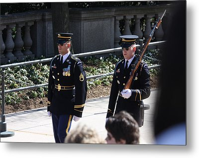 Arlington National Cemetery - Tomb Of The Unknown Soldier - 121222 Metal Print by DC Photographer