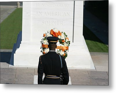 Arlington National Cemetery - Tomb Of The Unknown Soldier - 12128 Metal Print by DC Photographer