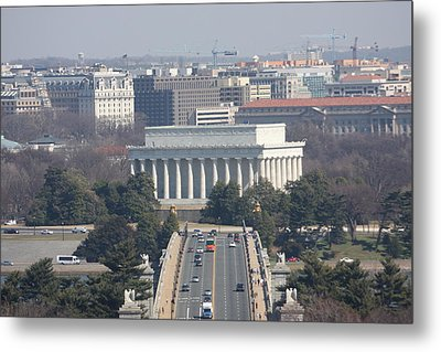 Arlington National Cemetery - View From Arlington House - 12123 Metal Print by DC Photographer