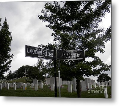 Metal Print featuring the digital art Arlington's Unknown Soldier Guide by Angelia Hodges Clay