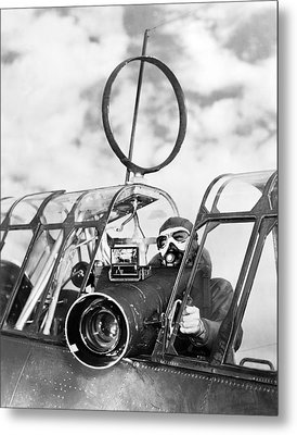 Army Air Force Camera Man Metal Print by Underwood Archives