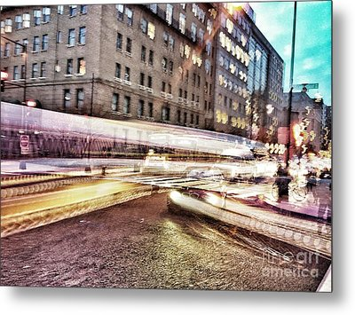Army And Navy Rush Hour Metal Print by Jim Moore
