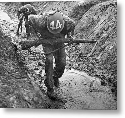 Army Basic Training Metal Print by Underwood Archives