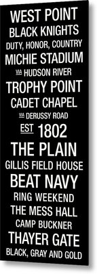 Army College Town Wall Art Metal Print