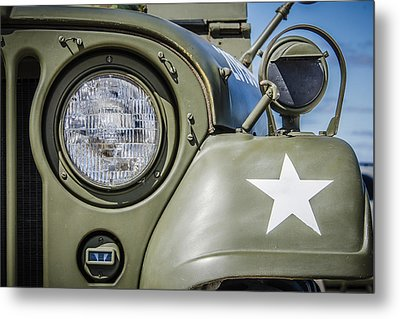 Army Jeep Metal Print