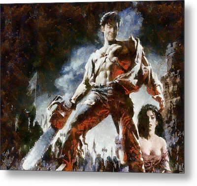 Metal Print featuring the painting Army Of Darkness by Joe Misrasi