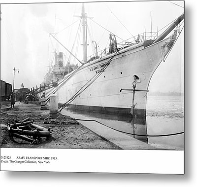 Army Transport Ship, 1913 Metal Print by Granger