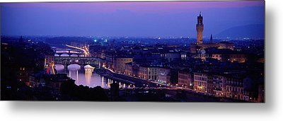 Arno River Florence Italy Metal Print by Panoramic Images