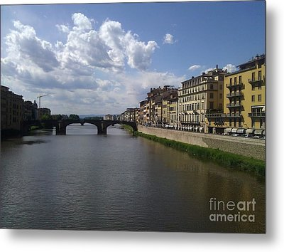 Arno River Metal Print by Ted Williams