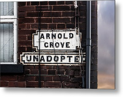Arnold Grove Unadopted In Liverpool Metal Print by Semmick Photo