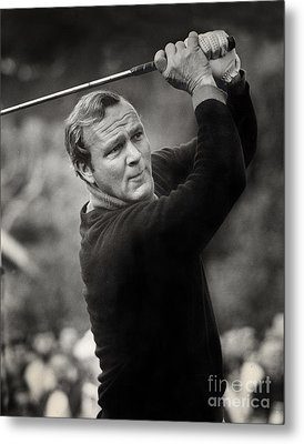Arnold Palmer Pro-am Golf Photo Pebble Beach Monterey Calif. Circa 1960 Metal Print