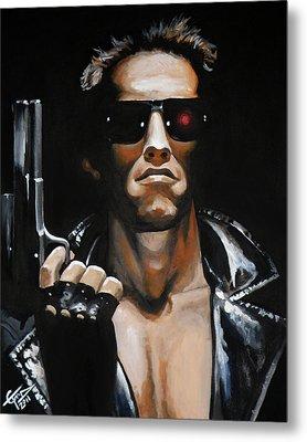 Arnold Schwarzenegger - Terminator Metal Print